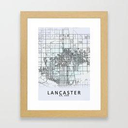 Lancaster CA USA White City Map Framed Art Print