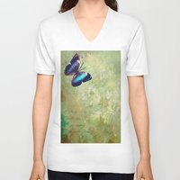 lonely V-neck T-shirts featuring LONELY by AlyZen Moonshadow