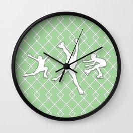 Spring Green Girls Figure Skating Wall Clock