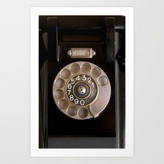 OLD BLACK PHONE Art Print