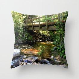 Bridge Over Fall Creek at Vallecito Throw Pillow