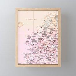 Rose Word Map Europe Framed Mini Art Print