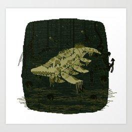 The Last Leviathan Art Print