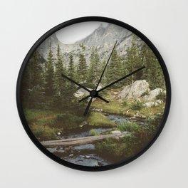 Dream Lake Creek Wall Clock