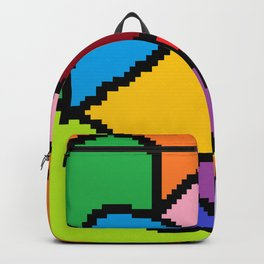 abstract heart art Backpack