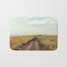 Rustic photography Country road photo Landscape print Nature poster Summer Bath Mat