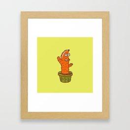 Cactus Fox Framed Art Print