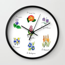 Catalogue de Fleurs Wall Clock