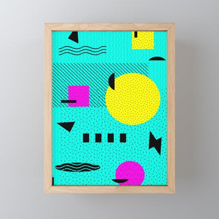 Hello Memphis Lemon Splash Framed Mini Art Print