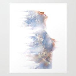 Spiritual Woman and Nature Art Print