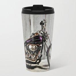 Purple Harley Softail Travel Mug