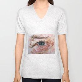 Elderly Male Eye Unisex V-Neck