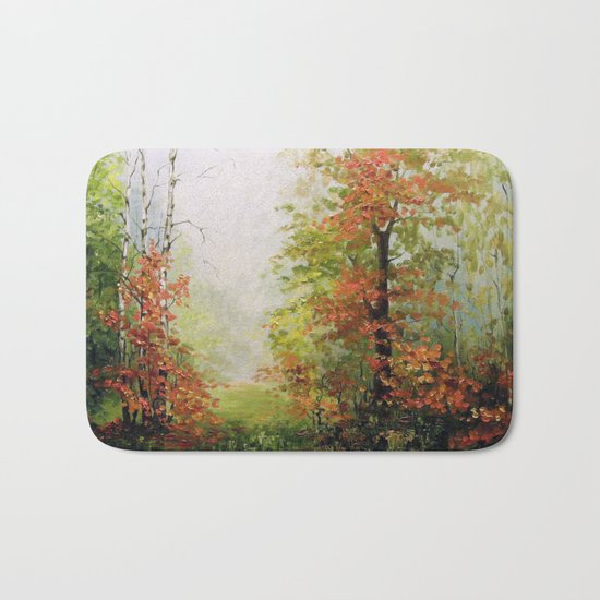 In the autumn forest Bath Mat