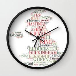 Shakespeare's Richard III  Wall Clock