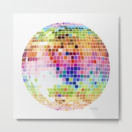 Disco Ball – Rainbow Metal Print