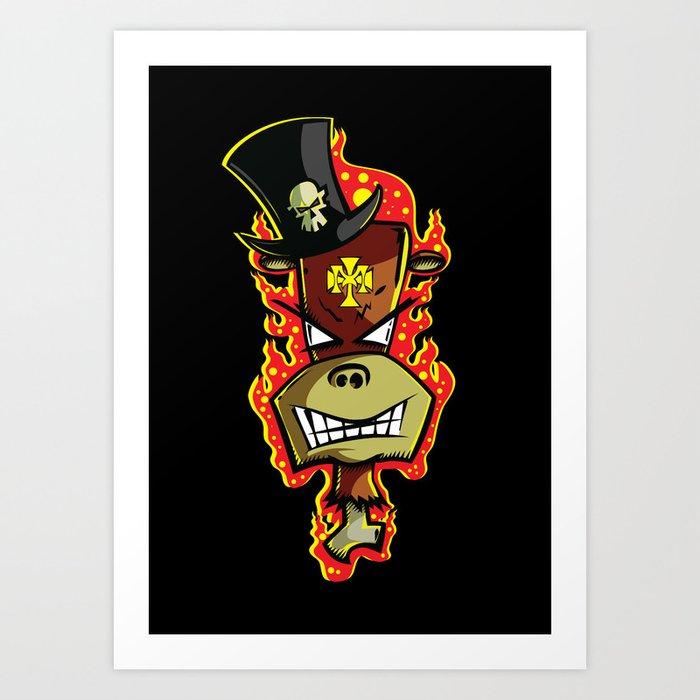 Trick Monkey - Voodoo Witch Doctor Art Print by trickmonkey