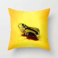 kill bill Throw Pillows featuring KILL BILL onitsuka special by wrong planet