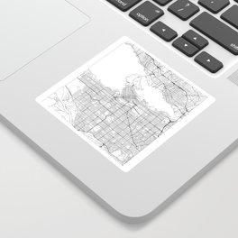 Vancouver Map White Sticker