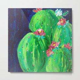 Flowering Prickly Pear Cacus Metal Print