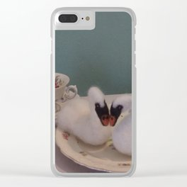 Felt Swans Clear iPhone Case