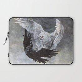 Yin Yang Owl and Raven Laptop Sleeve