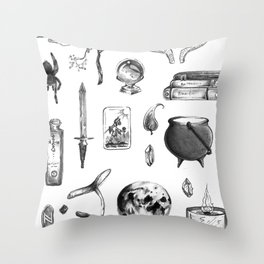 Witchy Habits Throw Pillow