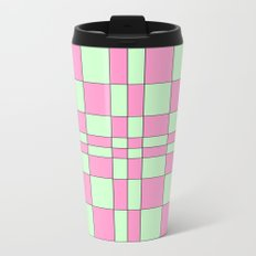 Intersections Pink and Green  Travel Mug