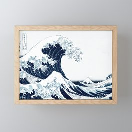 The Great Wave - Halftone Framed Mini Art Print