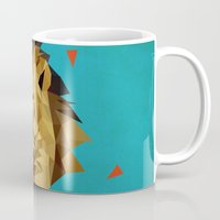 lion Mugs featuring lion by gazonula