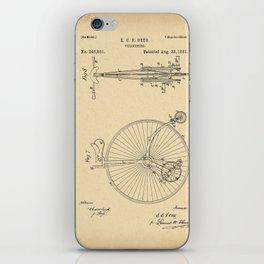 1881 Patent Bicycle Velocipede iPhone Skin