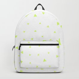 Green Triangle Pattern Backpack