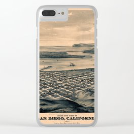 Map Of San Diego 1876 Clear iPhone Case