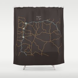 Oregon Highways Shower Curtain