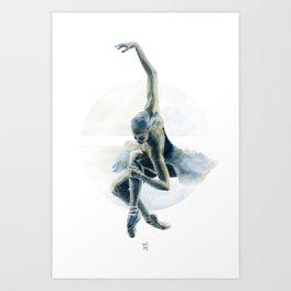 Aquarelle Ballerina 02 Art Print