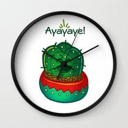 Ayayaye Cactus Tiny Wall Clock