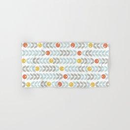 Mid Century Modern Retro Leaf and Circle Pattern Hand & Bath Towel