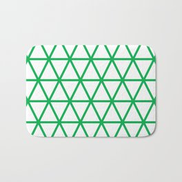 Green Triangle Pattern 2 Bath Mat