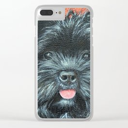 Terrier Painting - Koda Clear iPhone Case