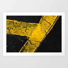 asphalt 1 Art Print