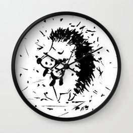 Adorable Hedgehog No.2a by Kathy Morton Stanion Wall Clock