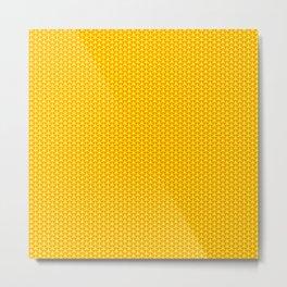 Sweet Yellow Circle Metal Print