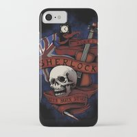 sherlock holmes iPhone & iPod Cases featuring Sherlock Holmes by Justyna Dorsz