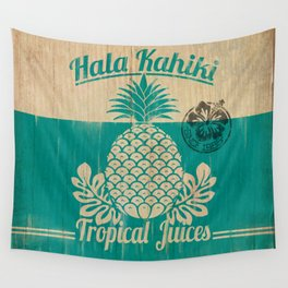 Hala Kahiki Juice Stand wooden board. Wall Tapestry