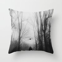 hat Throw Pillows featuring hat by MartaSyrko