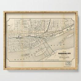Map of Harrisburg City, Pennsylvania (1895) Serving Tray