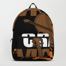 Crazy Violin Lady Backpack