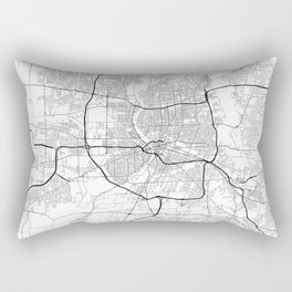 Minimal City Maps - Map Of Rochester, New York, Untited States Rectangular Pillow