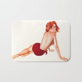 Vintage Pinup Girl Bath Mat