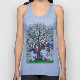 Connecticut Stray Cats in Tree Unisex Tank Top