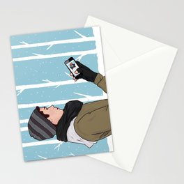 sledding. wish you were here.  Stationery Cards